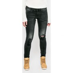 Guess Jeans - Jeansy. Szare jeansy damskie marki Guess Jeans, z obniżonym stanem. W wyprzedaży za 299,90 zł.