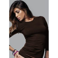 Koszulka damska z długim rękawem. Czarne bluzki longsleeves marki Astratex, z mikrofibry, z dekoltem na plecach. Za 58,99 zł.