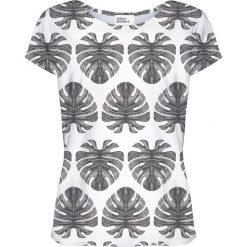 Colour Pleasure Koszulka damska CP-034 273 biało-czarna r. XS/S. Fioletowe bluzki damskie marki Colour pleasure, uniwersalny. Za 70,35 zł.