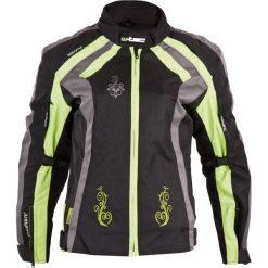 Bomberki damskie: W-TEC Damska kurtka motocyklowa Antigona Kolor czarno-zielony, Rozmiar S (10010)