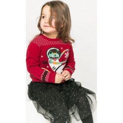 Medicine - Sweter dziecięcy Xmas 92-140 cm. Różowe swetry dziewczęce marki Mayoral, z bawełny, z okrągłym kołnierzem. W wyprzedaży za 39,90 zł.