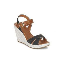 Sandały Andrea Conti  NAPALA. Czarne sandały damskie marki Slipknot, m, z nadrukiem, z kapturem. Za 175,20 zł.
