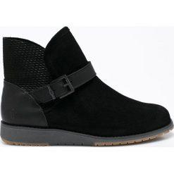 Emu Australia - Botki Lorne Splice. Czarne buty zimowe damskie marki EMU Australia, z gumy, z okrągłym noskiem. W wyprzedaży za 299,90 zł.