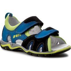 Sandały BARTEK - 16187-1/48 Czarno Niebieski. Czarne sandały męskie skórzane marki Bartek. W wyprzedaży za 189,00 zł.