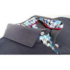 Koszulki męskie: Koszulka polo szara z pepitką