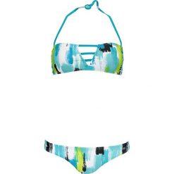Stroje kąpielowe damskie: Bikini w kolorze turkusowo-zielono-białym
