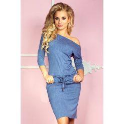 Cher Sukienka sportowa - Wiskoza - jeans jasny niebieski. Różowe sukienki sportowe marki numoco, l, z długim rękawem, maxi, oversize. Za 109,00 zł.
