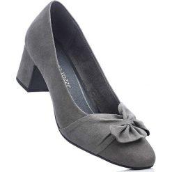 Czółenka Marco Tozzi bonprix ciemnoszary. Szare buty ślubne damskie bonprix, na obcasie. Za 109,99 zł.