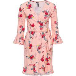 Sukienki: Sukienka shirtowa z falbanami bonprix jasnoróżowy cukierkowy w kwiaty