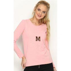 Bluzki asymetryczne: Różowa Bluzka MoMMa