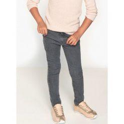 Jeansy skinny 3-16 lat. Szare spodnie chłopięce La Redoute Collections, z bawełny, z standardowym stanem. Za 104,96 zł.