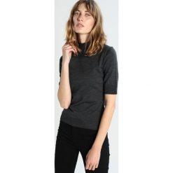 T-shirty damskie: IVY & OAK ROLLNECK HALFARM JUMPER Tshirt basic dark grey melange