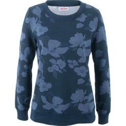 Bluzy rozpinane damskie: Bluza z nadrukiem, długi rękaw bonprix niebieski