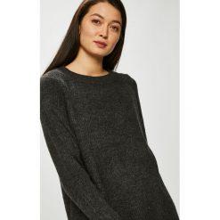 Only - Sweter. Szare swetry klasyczne damskie marki ONLY, s, z bawełny, casualowe, z okrągłym kołnierzem. Za 149,90 zł.