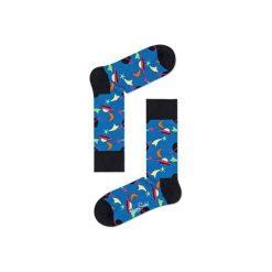 Skarpetki Happy Socks  SPA01-6001. Niebieskie skarpetki męskie marki Happy Socks, z bawełny. Za 24,43 zł.