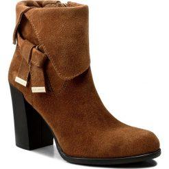 Botki EVA MINGE - Sanchia 2E 17SM1372213EF 837. Brązowe buty zimowe damskie Eva Minge, ze skóry. W wyprzedaży za 249,00 zł.