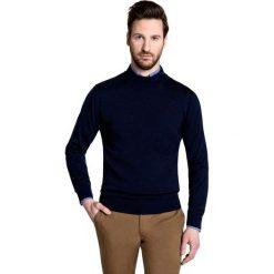 Sweter OTTAVIO SWG000040. Niebieskie swetry klasyczne męskie marki bonprix, m, z nadrukiem, z klasycznym kołnierzykiem, z długim rękawem. Za 199,00 zł.