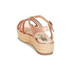 Sandały Xti  -. Brązowe sandały damskie marki Xti. Za 175,20 zł.