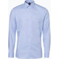 OLYMP No. Six - Koszula męska łatwa w prasowaniu, niebieski. Niebieskie koszule męskie non-iron marki OLYMP No. Six, m, w kolorowe wzory. Za 249,95 zł.
