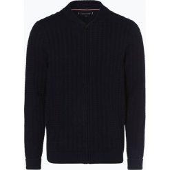 Tommy Hilfiger - Kardigan męski, niebieski. Niebieskie swetry rozpinane męskie TOMMY HILFIGER, l, z bawełny. Za 579,95 zł.