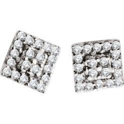 Wyjątkowe Kolczyki Białe Złoto - złoto białe 333, Diament 0,08ct. Białe kolczyki damskie W.KRUK, z diamentem, złote. Za 629,00 zł.