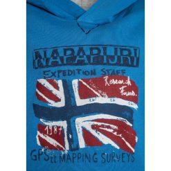 Napapijri BENDER  Bluza z kapturem light blue. Niebieskie bluzy chłopięce rozpinane marki Napapijri, z bawełny. Za 209,00 zł.