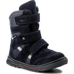 Buty zimowe chłopięce: Śniegowce RENBUT – 32-4142 Granat