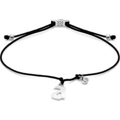 Bransoletki damskie na nogę: Bransoletka w kolorze czarnym ze srebrną zawieszką