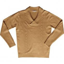 Sweter kaszmirowy w kolorze karmelowym. Brązowe swetry klasyczne męskie marki Ateliers de la Maille, m, z kaszmiru. W wyprzedaży za 591,95 zł.