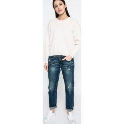 Vero Moda - Sweter. Szare swetry klasyczne damskie marki Vero Moda, l, z dzianiny, z okrągłym kołnierzem. W wyprzedaży za 89,90 zł.