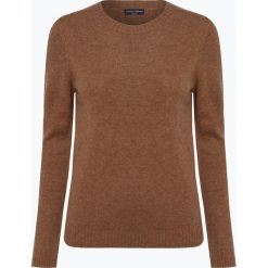 Franco Callegari - Damski sweter z wełny merino, beżowy. Zielone swetry klasyczne damskie marki Franco Callegari, z napisami. Za 229,95 zł.