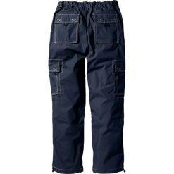 Spodnie bojówki Loose Fit Straight bonprix ciemnoniebieski. Niebieskie bojówki męskie bonprix, w paski. Za 79,99 zł.