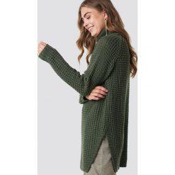 Rut&Circle Sweter z golfem Samira - Green. Zielone golfy damskie marki Rut&Circle, z dzianiny, z okrągłym kołnierzem. Za 161,95 zł.