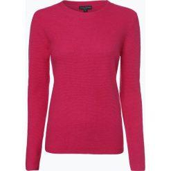 Franco Callegari - Damski sweter z wełny merino, różowy. Zielone swetry klasyczne damskie marki Franco Callegari, z napisami. Za 249,95 zł.