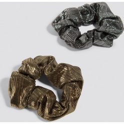 NA-KD Accessories Metaliczna gumka owijka 2-pak - Silver,Gold. Szare ozdoby do włosów NA-KD Accessories. Za 32,00 zł.
