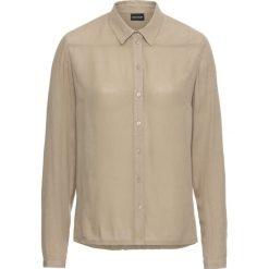 Bluzka kreszowana bonprix new khaki. Zielone bluzki z odkrytymi ramionami bonprix. Za 37,99 zł.