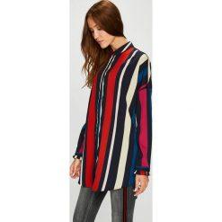 Vero Moda - Koszula. Szare koszule damskie Vero Moda, l, z materiału, klasyczne, z klasycznym kołnierzykiem, z długim rękawem. Za 149,90 zł.