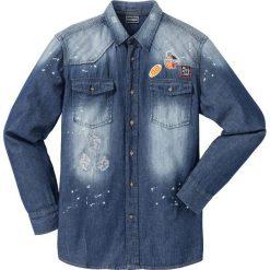 """Koszula dżinsowa z długim rękawem Regular Fit bonprix niebieski """"used"""". Białe koszule męskie marki bonprix, z klasycznym kołnierzykiem, z długim rękawem. Za 54,99 zł."""