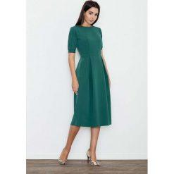 Zielona Sukienka Elegancka Wizytowa Midi. Czarne sukienki balowe marki bonprix. Za 145,90 zł.