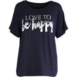 T-shirty damskie: Granatowy T-shirt Love To Be Happy