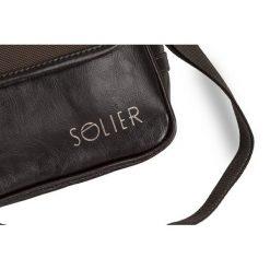 SKÓRZANA MĘSKA TORBA NA RAMIĘ LISTONOSZKA  Brązowa. Brązowe torby na ramię męskie marki Kazar, ze skóry, przez ramię, małe. Za 169,00 zł.