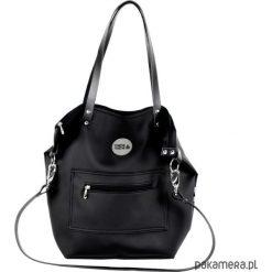 Torba Worek All Black Pocket. Czarne torebki klasyczne damskie Pakamera, ze skóry. Za 220,00 zł.