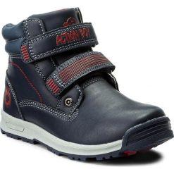Buty zimowe chłopięce: Trapery ACTION BOY – CP40-FK5-816JZ D Granatowy/Czerwony