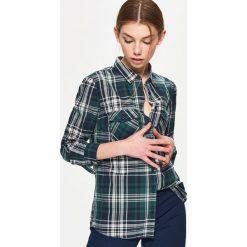 Koszula w kratę - Khaki. Brązowe koszule damskie Cropp, l. Za 49,99 zł.