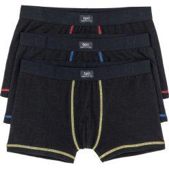 Bokserki (3 pary) bonprix czarno-kolorowy. Czarne bokserki męskie bonprix, w kolorowe wzory. Za 44,97 zł.