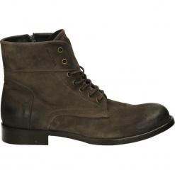 Botki męskie - NY162 CAM SAF. Czarne buty zimowe męskie Venezia, z gumy. Za 249,00 zł.