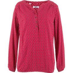 Tunika z długim rękawem bonprix ciemnoczerwony wzorzysty. Fioletowe tuniki damskie z długim rękawem marki bonprix, w paski, z dzianiny, moda ciążowa. Za 74,99 zł.