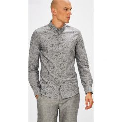 Medicine - Koszula Monumental. Szare koszule męskie na spinki marki S.Oliver, l, z bawełny, z włoskim kołnierzykiem, z długim rękawem. W wyprzedaży za 59,90 zł.