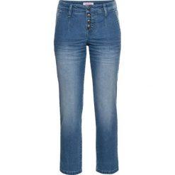 Miękkie dżinsy ze stretchem w stylu chino, dł. 7/8 bonprix jasnoniebieski. Niebieskie jeansy damskie bonprix. Za 109,99 zł.