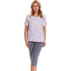 Piżama w kolorze jasnoniebiesko-szarym - koszula, spodnie. Niebieskie piżamy damskie Doctor Nap, xl. W wyprzedaży za 82,95 zł.